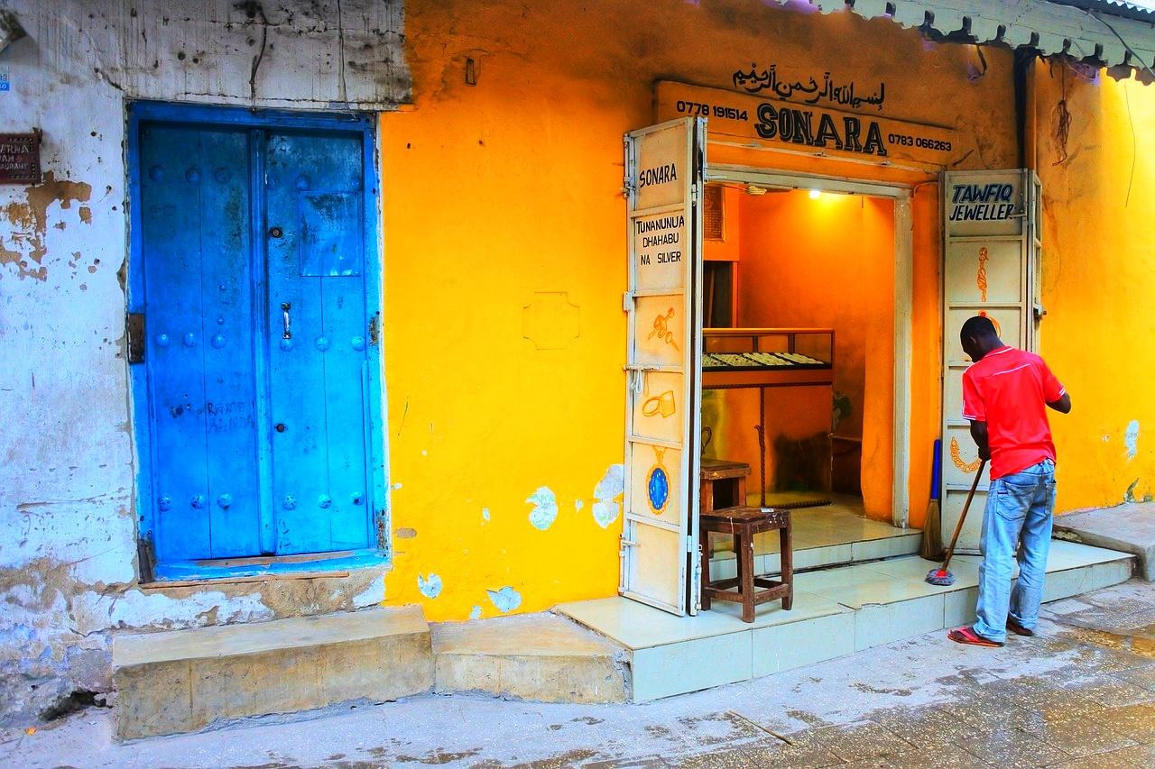 Zanzibar jewelry shop